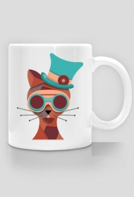Steampunk Cat – kubek