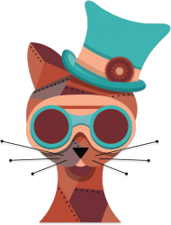 Steampunk Cat – eko torba
