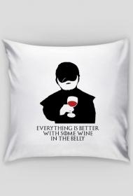 Everything Is Better With Some Wine – poszewka na poduszkę