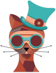 Steampunk Cat – podstawka pod kubek