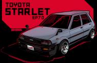 Koszulka męska - Toyota Starlet EP70 - CarCorner