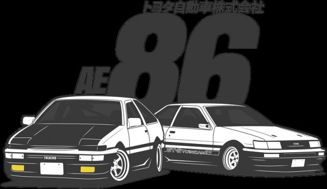 Bluza męska - Toyota AE86 Levin i Trueno  - CarCorner