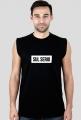 Sul serio czarna/szala koszulka męska