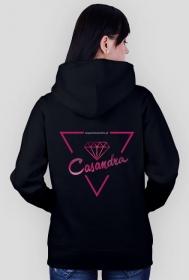 Bluza czarna CASANDRA #1 (logo przód i tył)