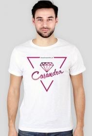 Koszulka slim biała CASANDRA #1 (logo przód)