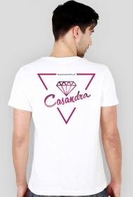 Koszulka slim biała CASANDRA #1 (logo przód i tył)