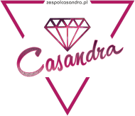 Bokserka biała CASANDRA #1 (logo przód)