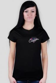 Koszulka czarna CASANDRA #2 (logo przód i tył)