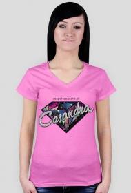 Koszulka V-neck CASANDRA #2 (logo przód) RÓŻNE KOLORY!