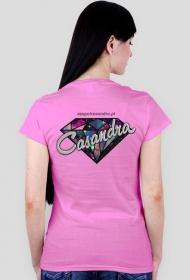 Koszulka V-neck CASANDRA #2 (logo przód i tył) RÓŻNE KOLORY!