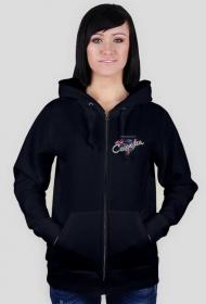 Bluza czarna CASANDRA #2 (logo przód i tył)
