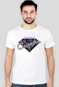 Koszulka slim biała CASANDRA #2 (logo przód)