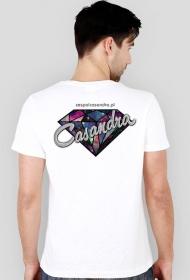 Koszulka slim biała CASANDRA #2 (logo przód i tył)