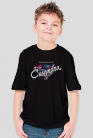 Koszulka czarna CASANDRA #2 (logo przód)