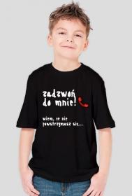 """Koszulka chłopięca """"Zadzwoń do mnie"""" BIAŁY NAPIS - RÓŻNE KOLORY!"""