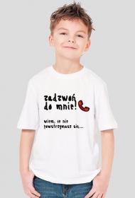 """Koszulka chłopięca """"Zadzwoń do mnie"""" CZARNY NAPIS - RÓŻNE KOLORY!"""