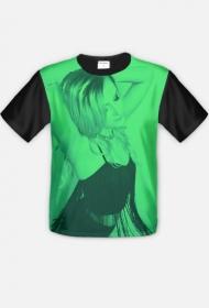 Koszulka męska CASANDRA #3 FullPrint - ZIELONA
