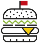 CZAPKA TRUCKER BURGER
