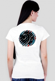 Klucz basowy B5 T-shirt Ladies Havy V neck