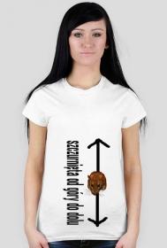 Koszulka Damska szczurnięta od góry do dołu