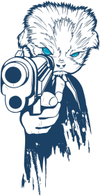 koszulka z nadrukiem Gun
