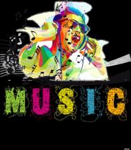 koszulka z nadrukiem Music