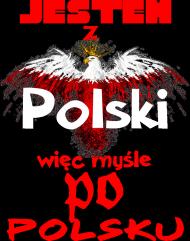 bluza z nadrukiem Polish Jestem damska