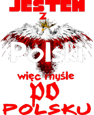 koszulka z nadrukiem Polish Jestem damska II