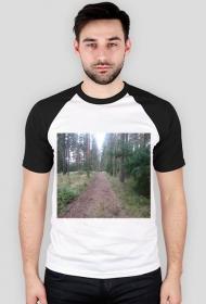 Koszulka męska z lasem