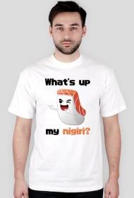 T-shirt męski - What's up my nigiri? (light)