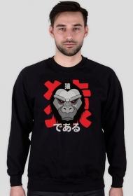 "Bluza męska - ""Jestem małpą"" po japońsku"