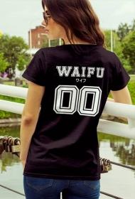 "Koszulka damska - ""Waifu"" (Tył) (White)"