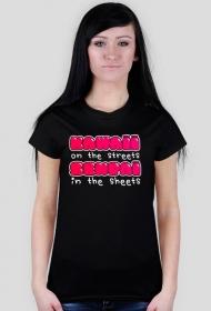 """Kawaii koszulka damska - Kawaii on the streets, senpai in the sheets"""""""
