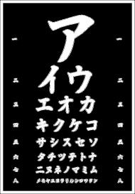 Koszulka damska - Tablica z katakaną (biały napis)