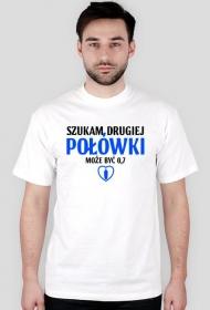 Szukam drugiej połówki, może być 0,7 - Męski T-shirt (Jasny)