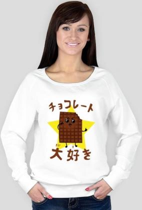 Bluza damska - Kocham czekoladę po japońsku