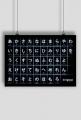 Plakat A2 - Do nauki hiragany (czarny)