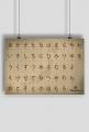 Plakat A2 - Do nauki hiragany (Mapa)