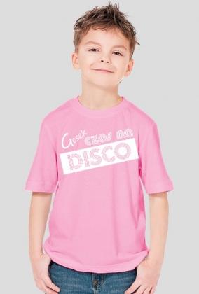 Gesek - Czas na disco, chłopczyk, biały napis