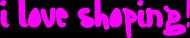 "Torba ""i love shoping"""