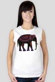 Koszulka damska bez rękawów (Słoń1)