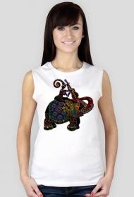 Koszulka damska bez rękawów (Słoń2)