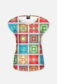 Koszulka damska (Kwadraty)