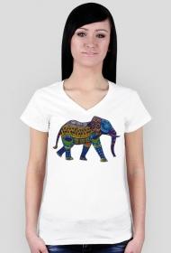 Koszulka damska (Słoń3)