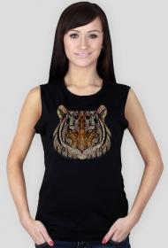 Koszulka damska bez rękawów (Tygrys)