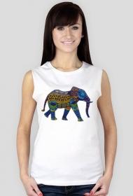 Koszulka damska bez rękawów (Słoń3)