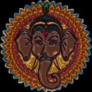 Koszulka damska bez rękawów (Mandala słoń)