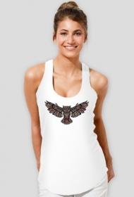Koszulka damska na ramiączkach (Sowa2)