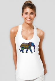 Koszulka damska na ramiączkach (Słoń3)