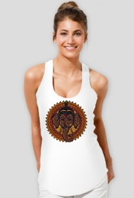 Koszulka damska na ramiączkach (Mandala słoń)